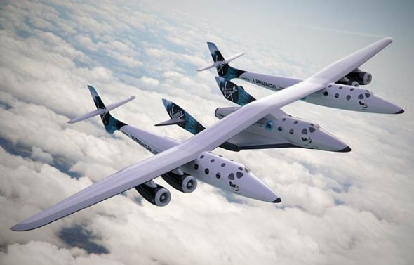 virgin-galactic-white-knight-two-spaceship-two-in-flight